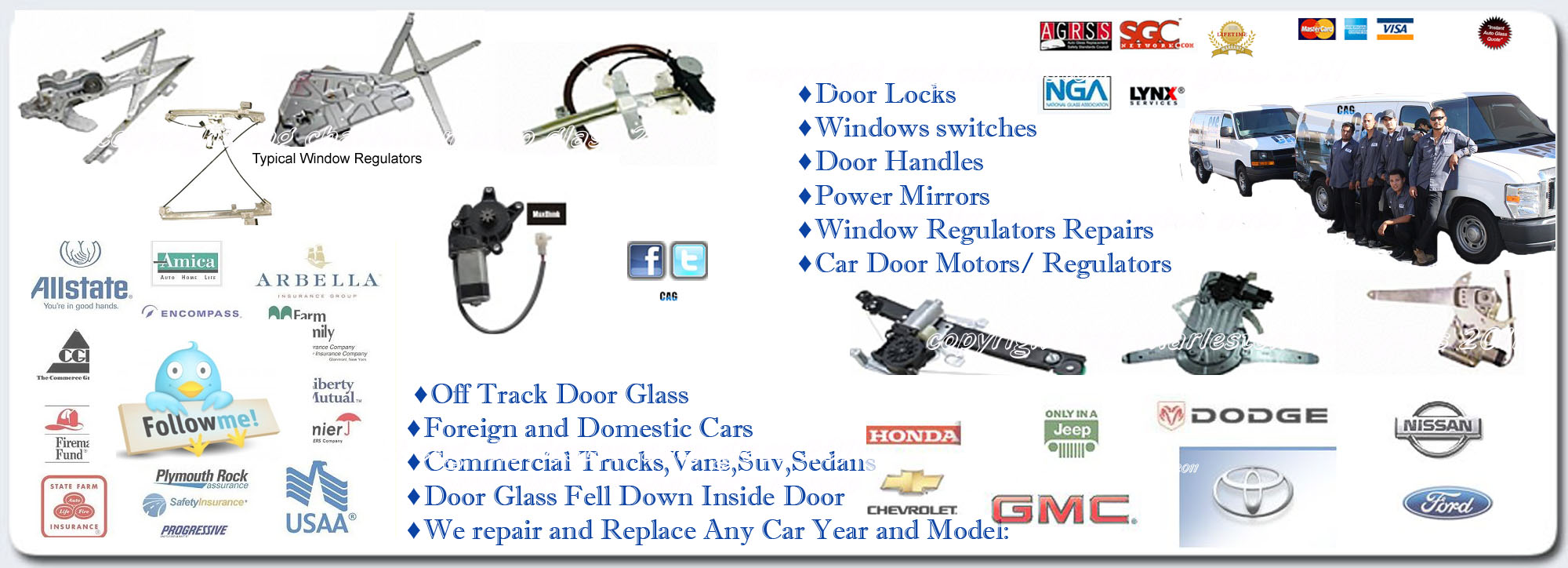 Auto Power Windows Repairs / Manual windows  | Charleston